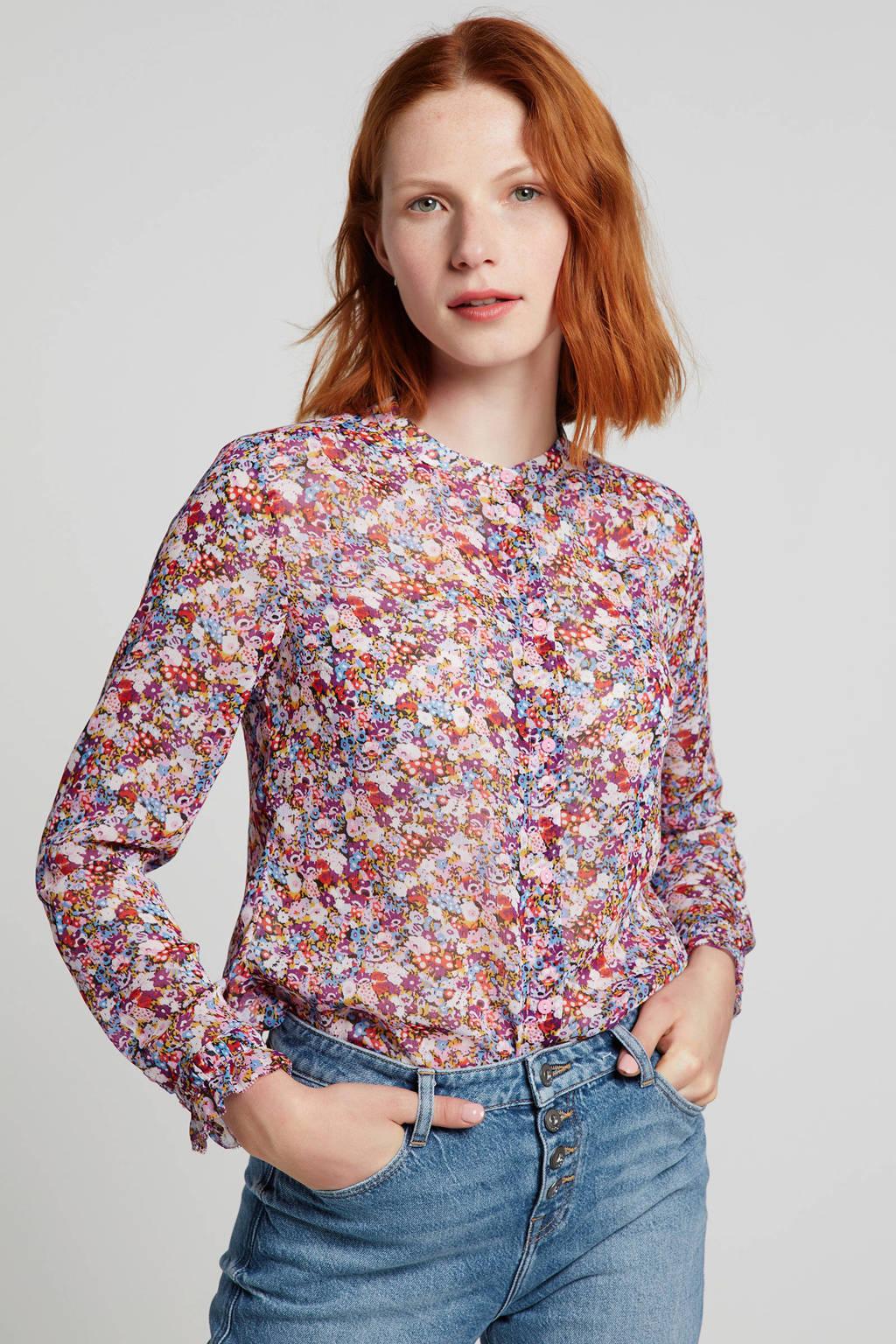 Modström gebloemde blouse Russel paars/multi, Paars/multi
