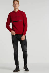 GABBIANO skinny jeans Ultimo black destroyed, Black destroyed