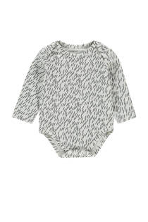 Noppies baby romper Qassimiut met all over print wit