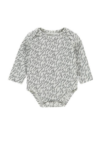 baby romper Qassimiut met all over print wit