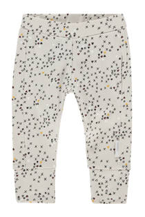 Noppies baby regular fit broek Quattro met all over print lichtbeige