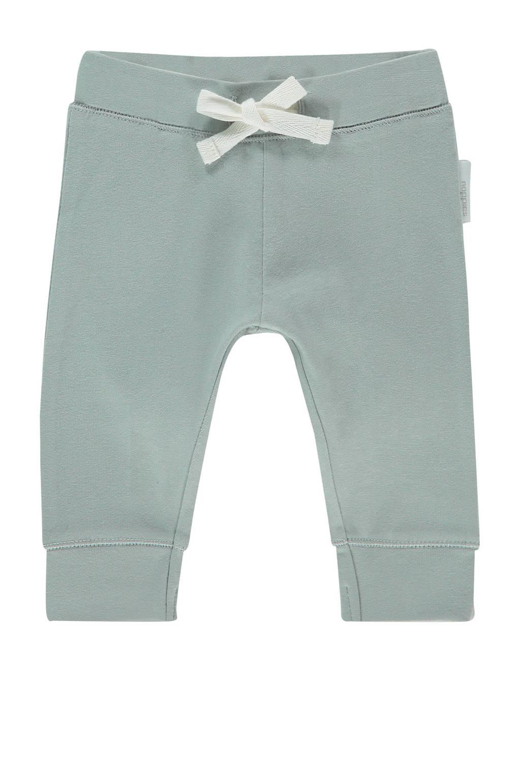 Noppies baby slim fit broek Qingdao met biologisch katoen grijsblauw, Grijsblauw