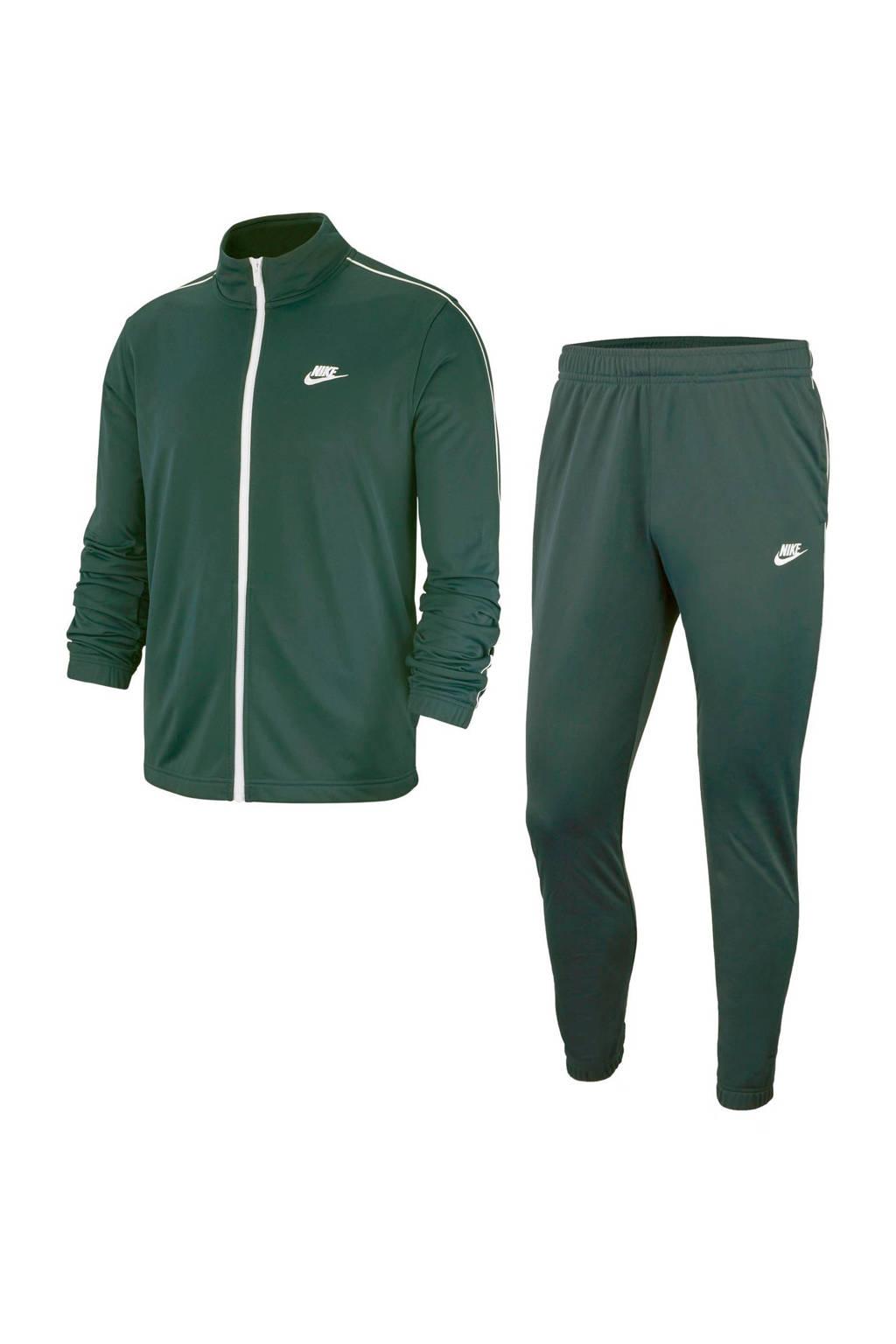 Nike   trainingspak groen, Donkergroen/wit