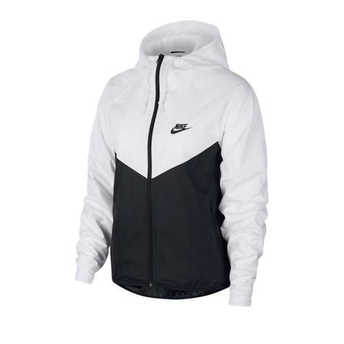 Nike jack zwart/wit