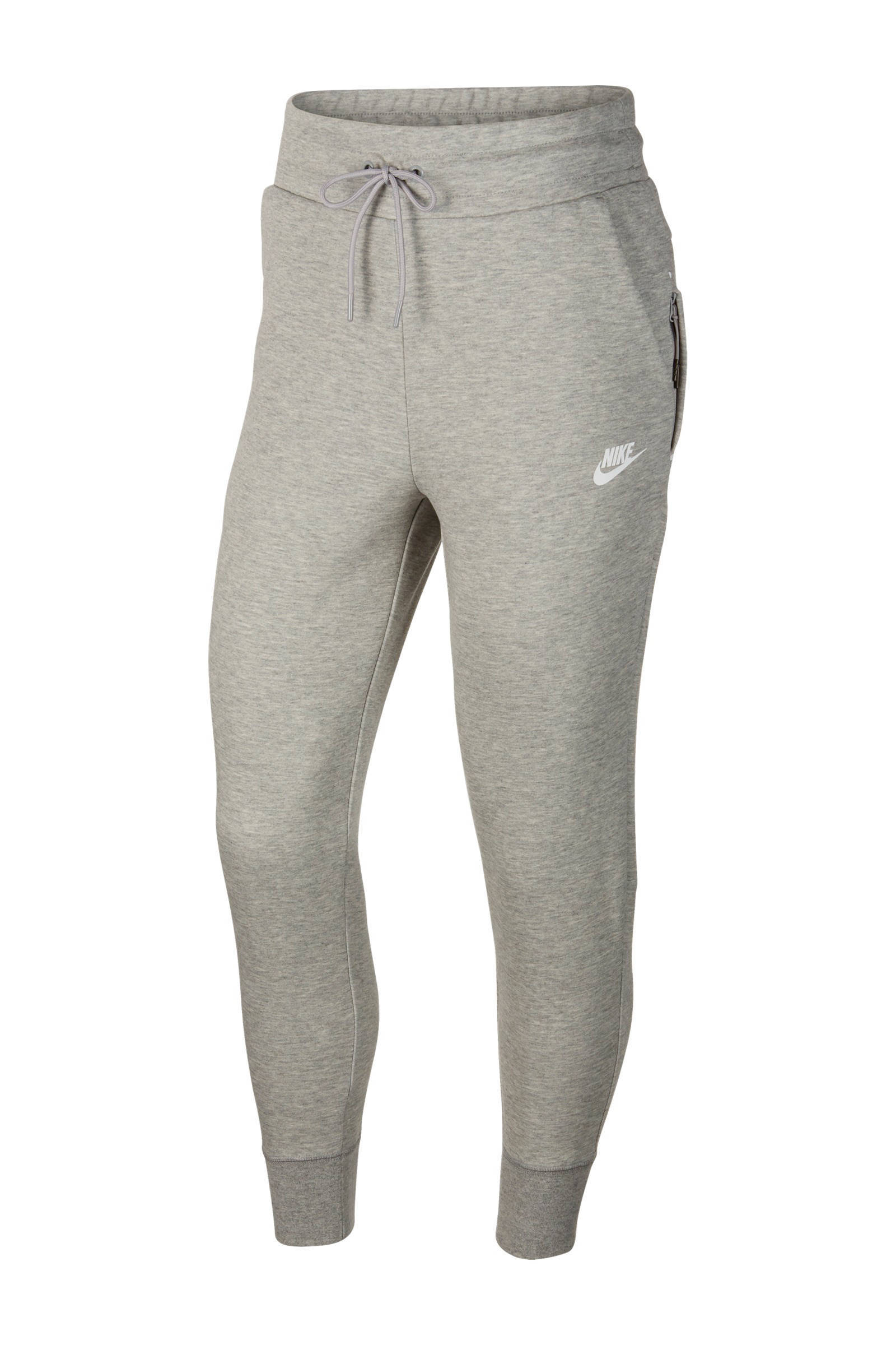 Tech Fleece regular fit joggingbroek met logo grijs melange
