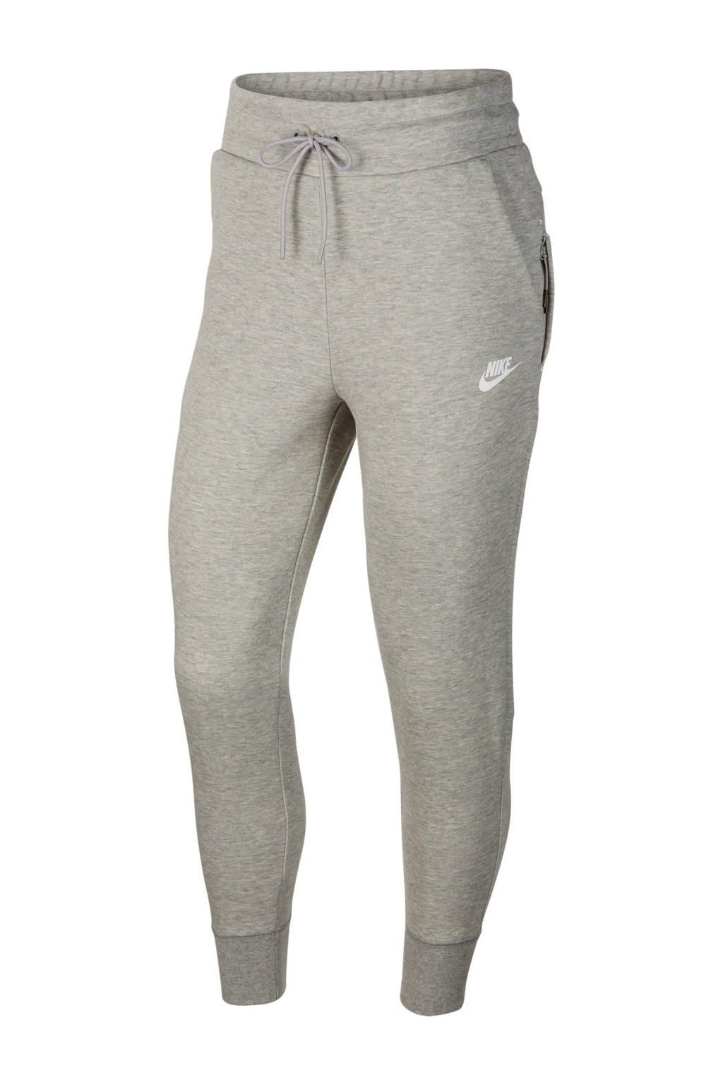 Nike Tech Fleece regular fit joggingbroek met logo grijs melange, Grijs melange