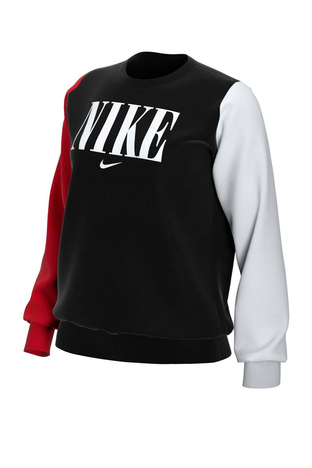 Nike sweater zwart, Zwart/rood/wit