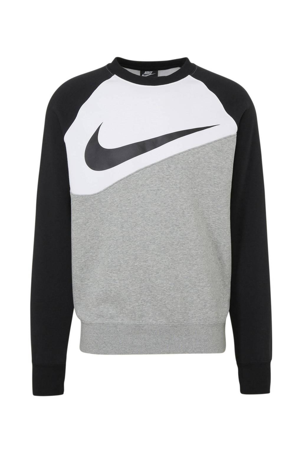 Nike   sweater grijs melange, Grijs melange/zwart/wit