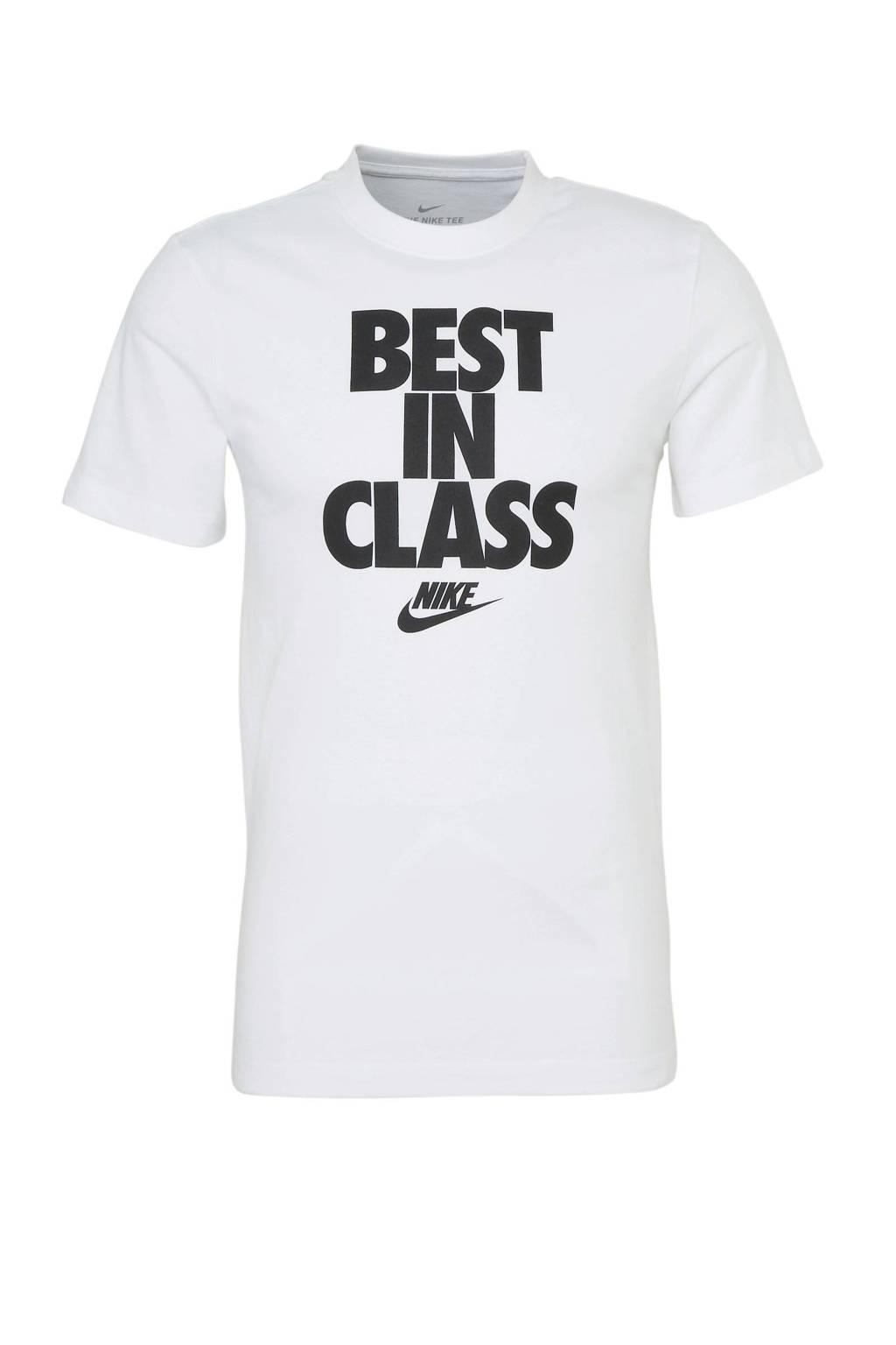 Nike   T-shirt, Wit/zwart