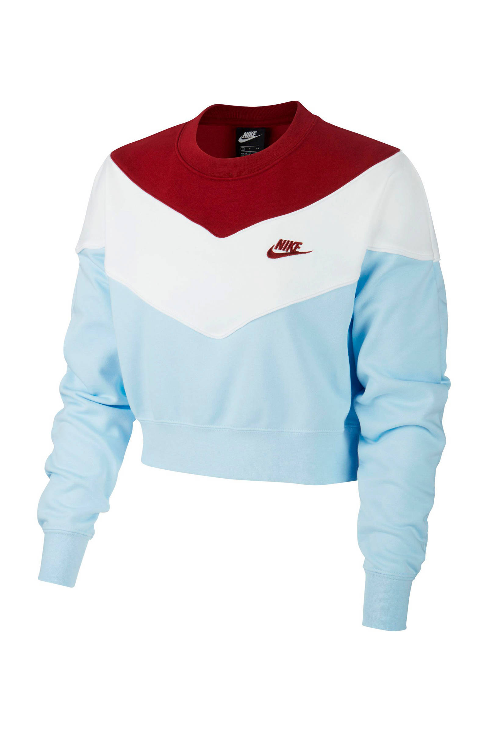 Nike cropped sweater zwart | wehkamp