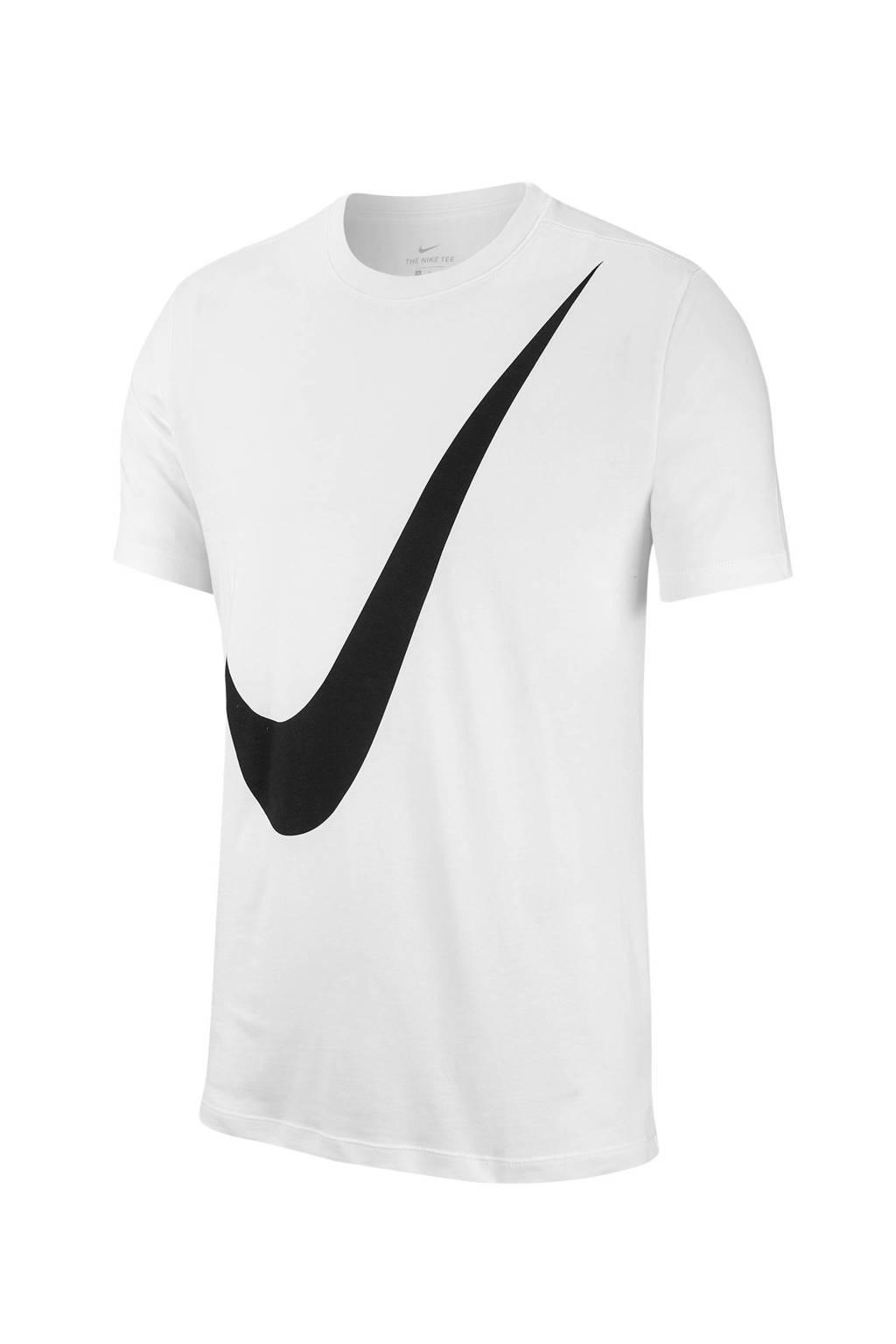 Nike   T-shirt wit/zwart, Wit/zwart
