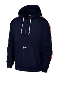 Nike anorak donkerblauw, Donkerblauw/rood/wit