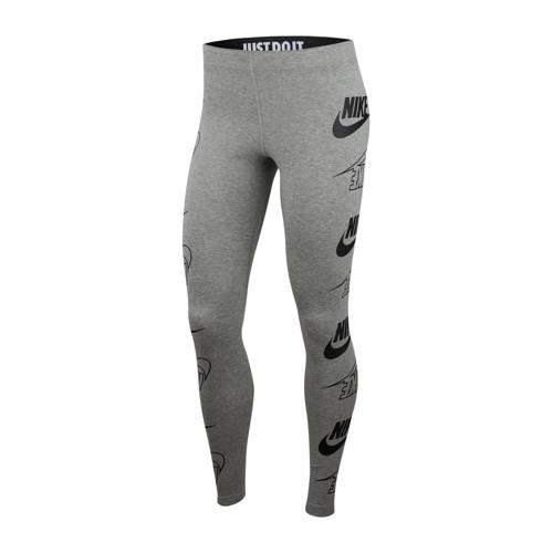 Nike legging grijs melange/zwart