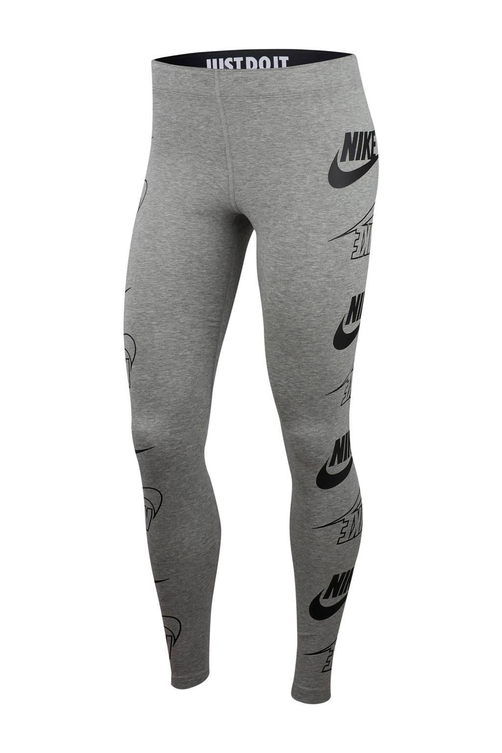 Nike legging grijs melange/zwart, Grijs melange/zwart