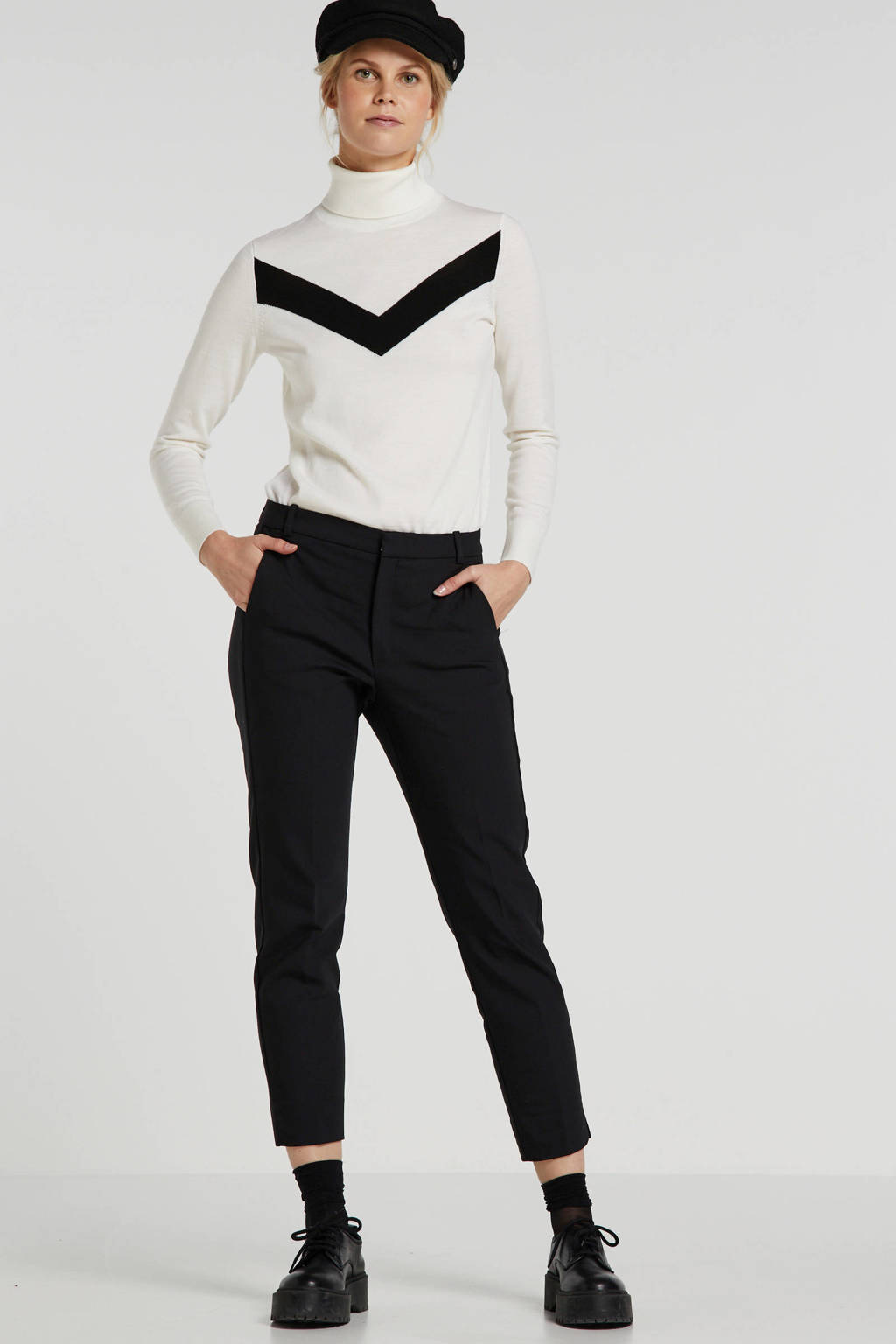 Inwear slim fit pantalon Zella, Zwart