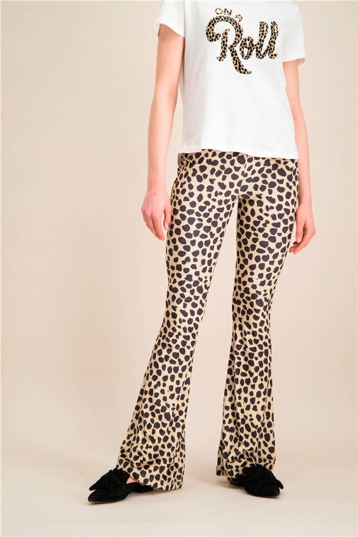 Catwalk Junkie flared broek Leopard clash met dierenprint