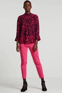 Inwear top met all over print zwart/roze/rood, Zwart/roze/rood