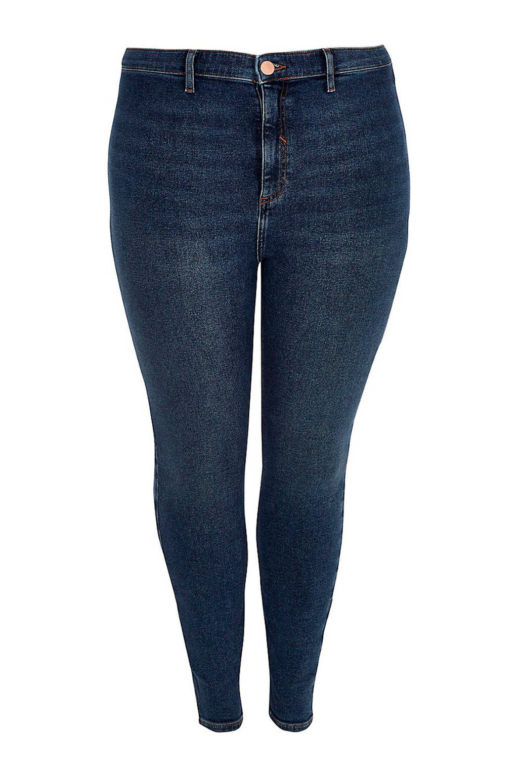 River Island Plus regular fit jeans, Donkerblauw