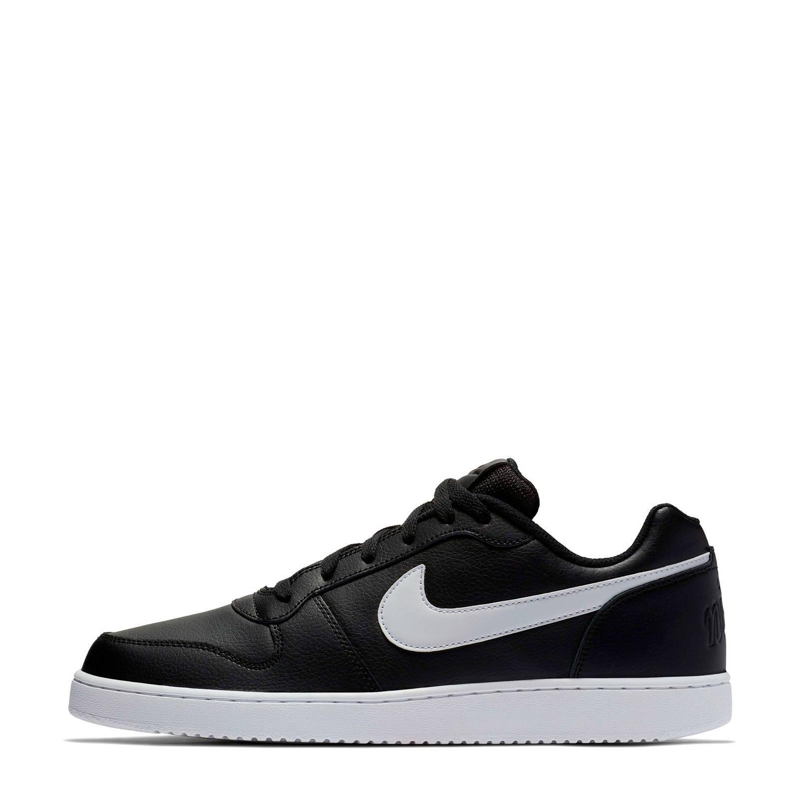 Ebernon Low leren sneakers zwartwit