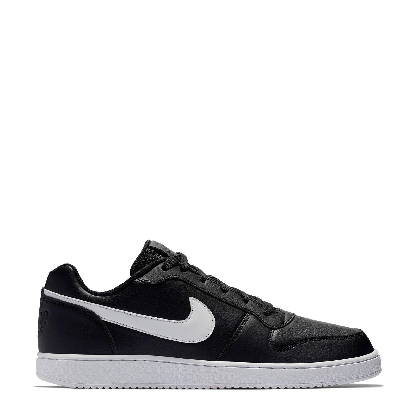 Nike Ebernon Low leren sneakers zwartwit | wehkamp