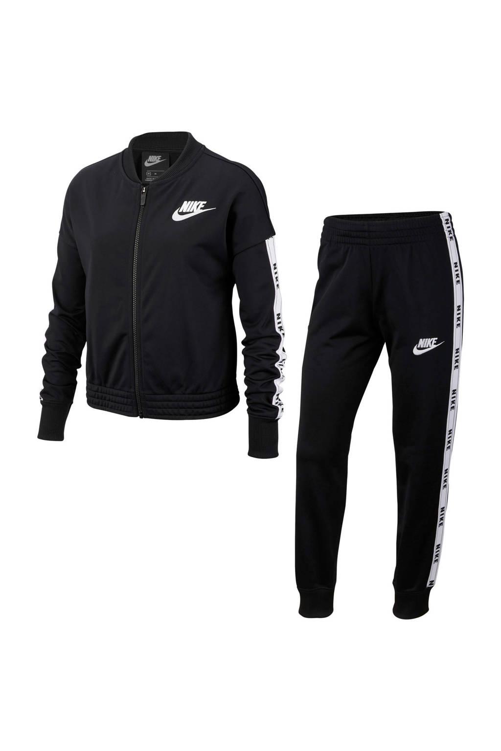 Nike trainingspak zwart, Zwart/wit