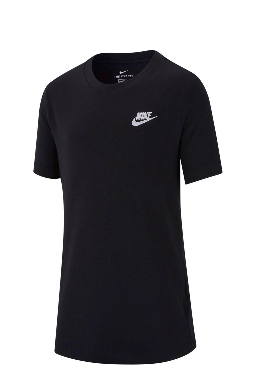 Nike T-shirt zwart, Zwart/wit
