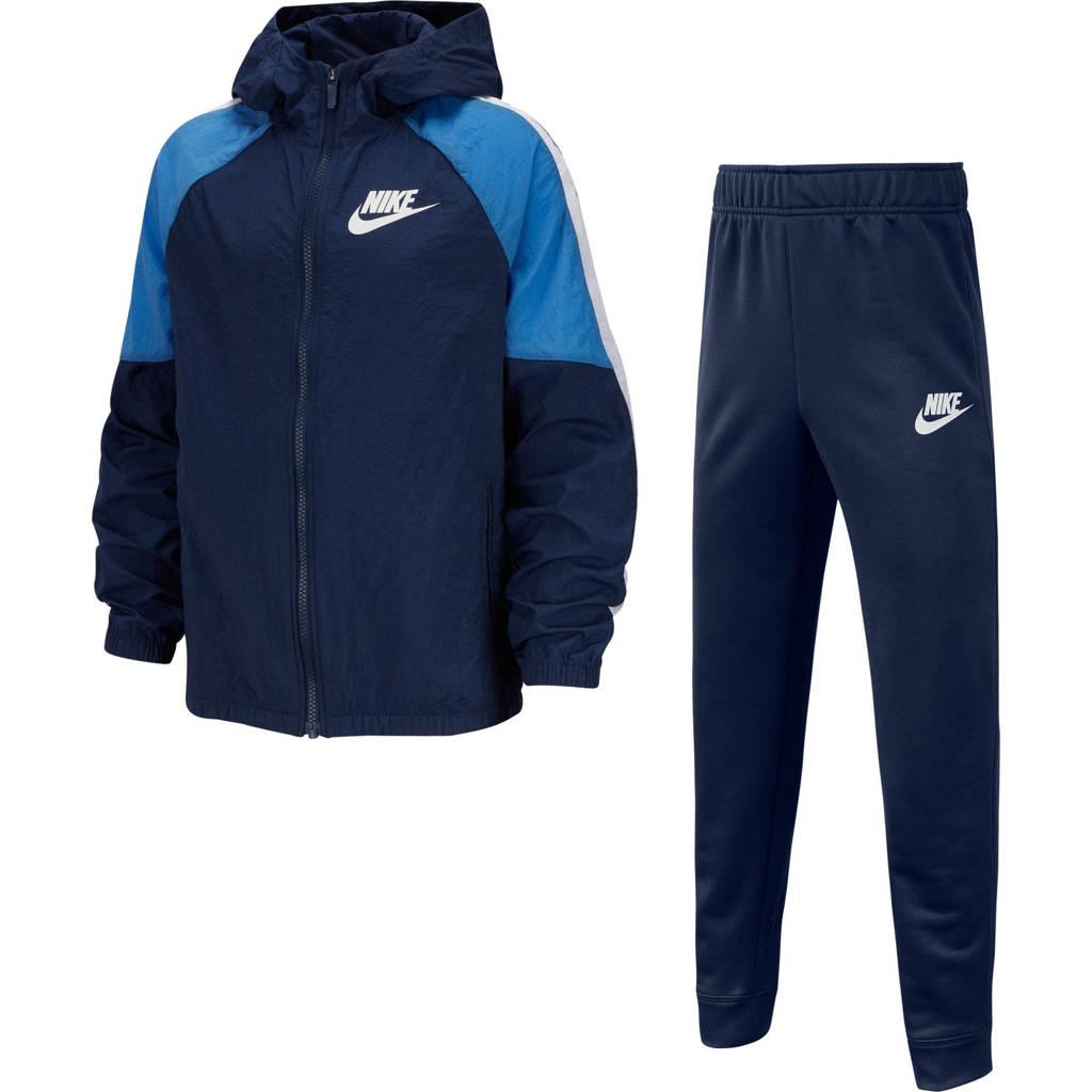 Nike   trainingspak blauw, Donkerblauw/blauw