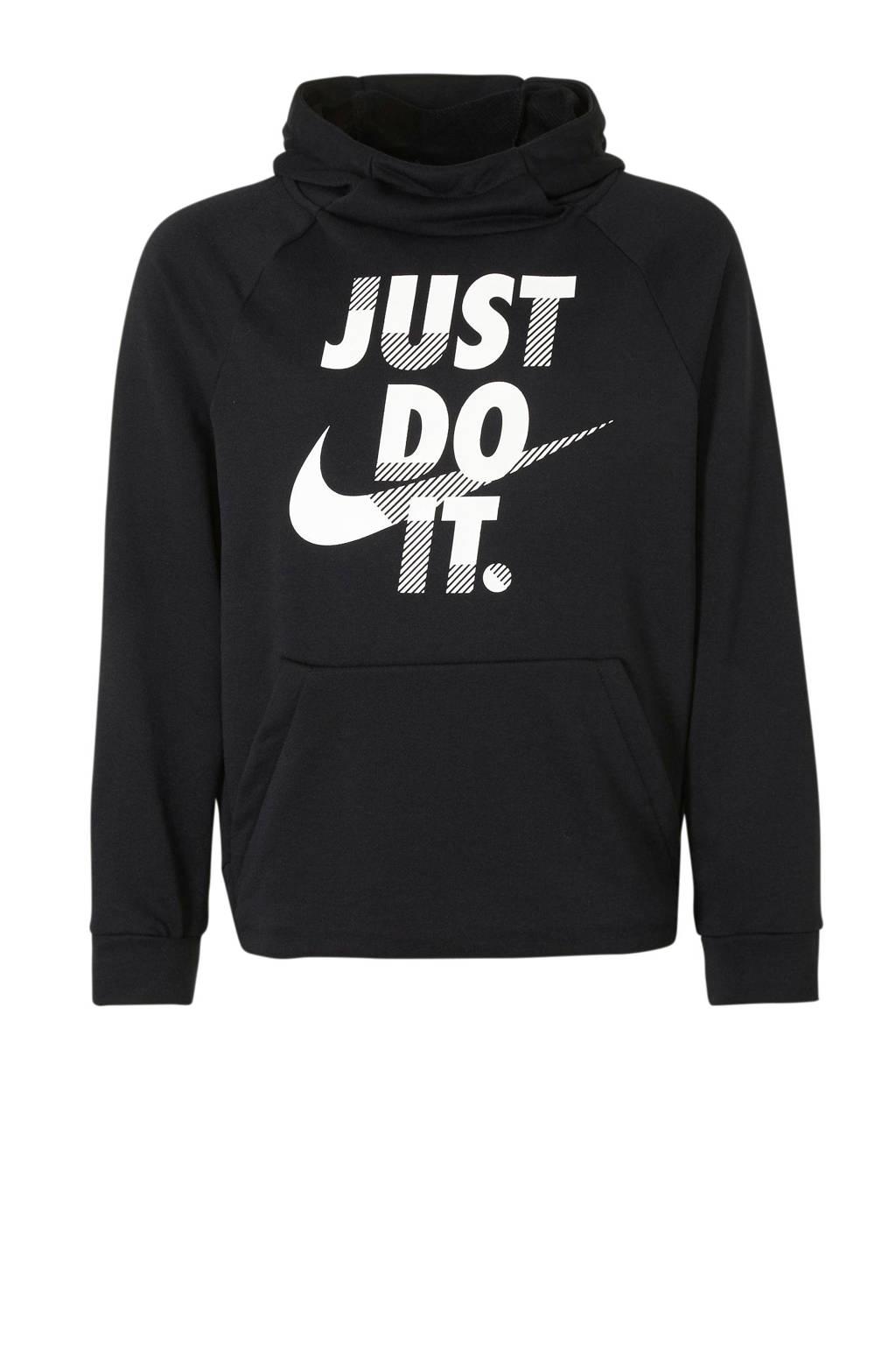 Nike   sweater logo zwart/wit, Zwart/wit