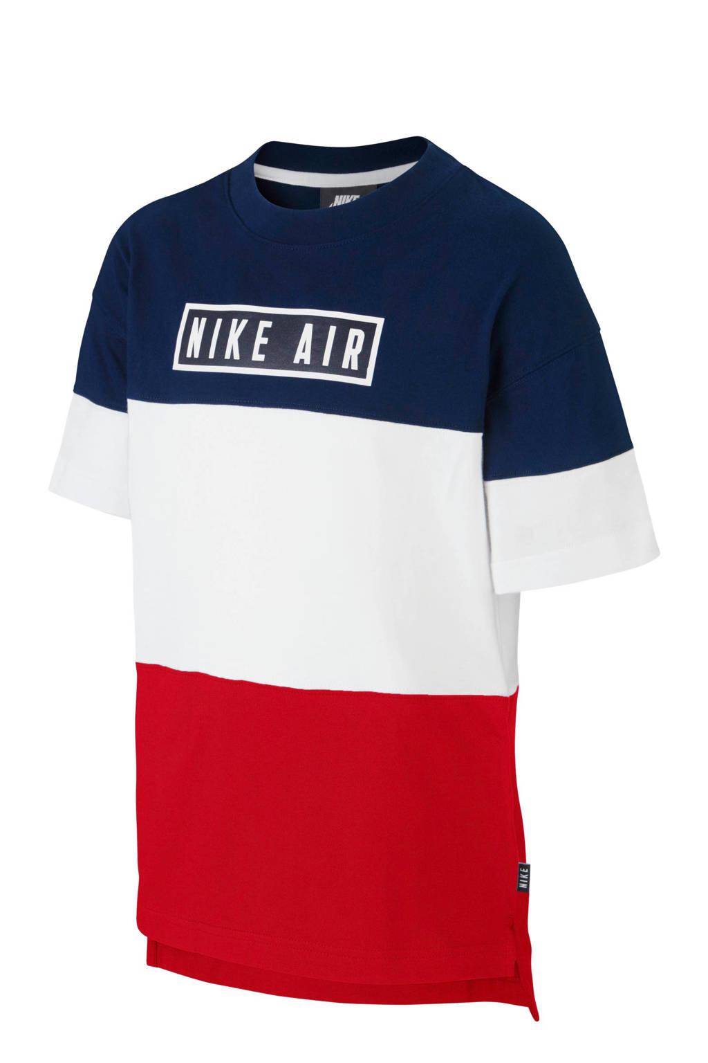 Nike Air T-shirt met all over print donkerblauw/wit/rood, Donkerblauw/wit/rood