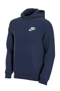 Nike hoodie blauw, Donkerblauw/wit