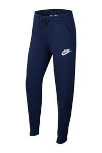 Nike joggingbroek donkerblauw, Donkerblauw/wit