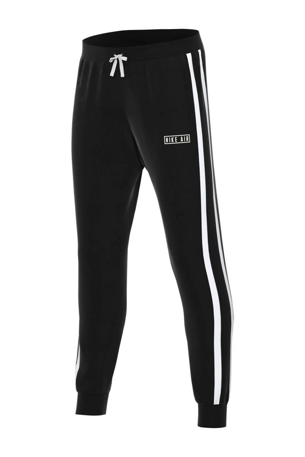 Nike Air regular fit joggingbroek zwart/wit, Zwart/wit