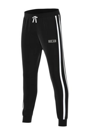 Air regular fit joggingbroek zwart/wit