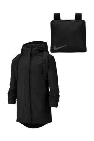 Packable jacket zwart