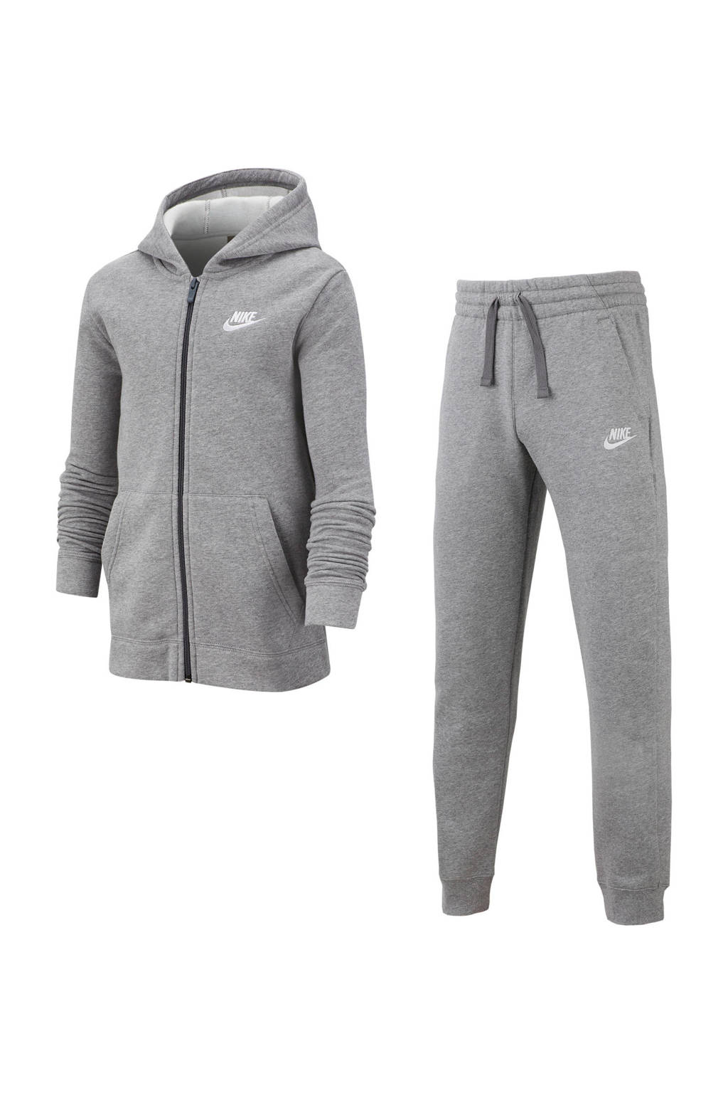 Nike   trainingspak grijs melange, donkergrijs/antraciet/wit