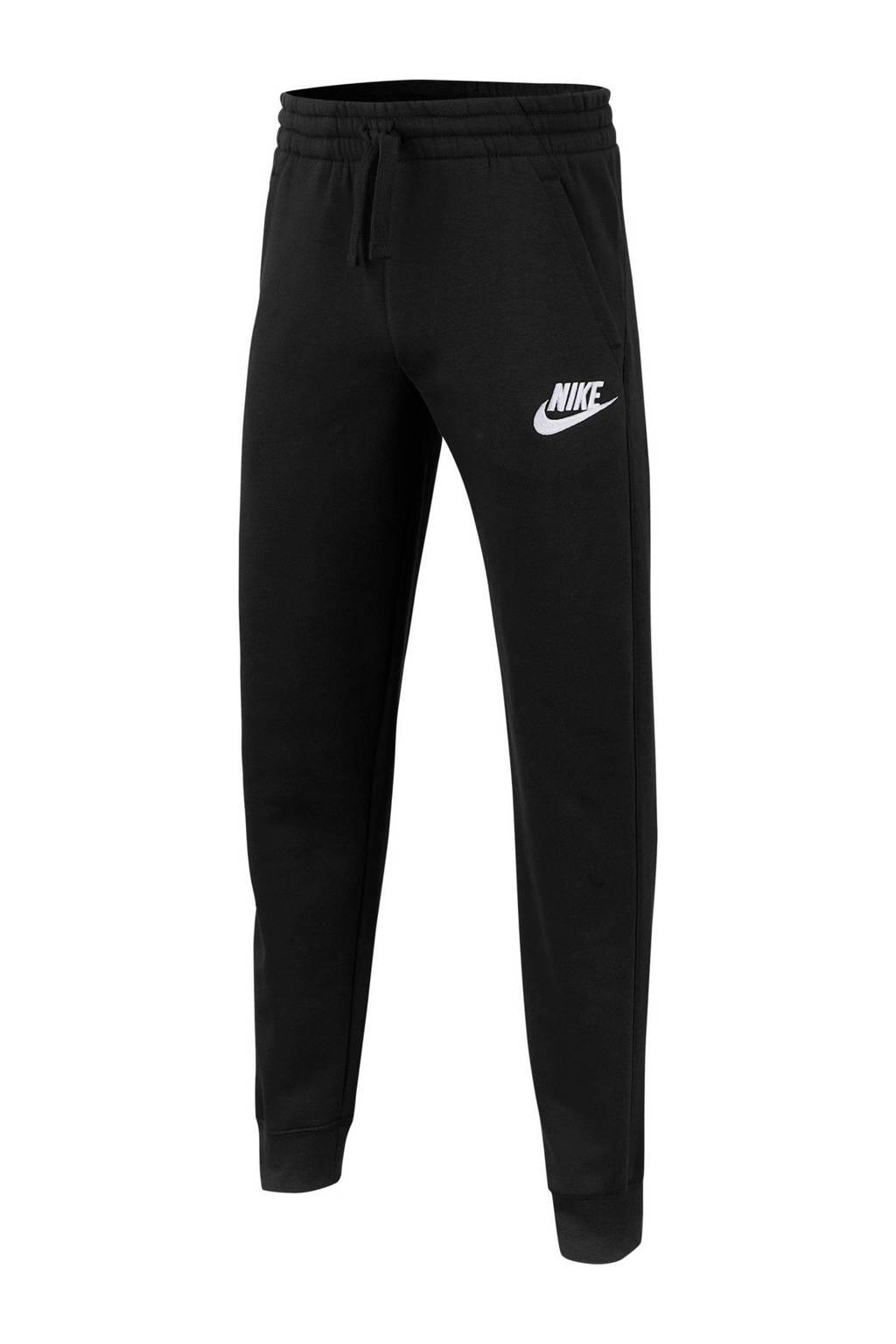 Nike regular fit joggingbroek zwart, Zwart/wit