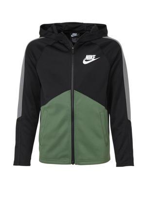 vest zwart/groen