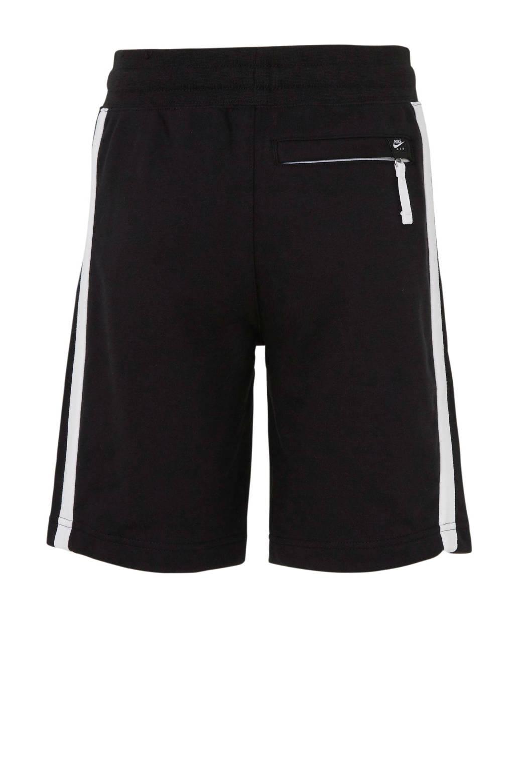 Nike   Air sweatshort zwart, Zwart/wit