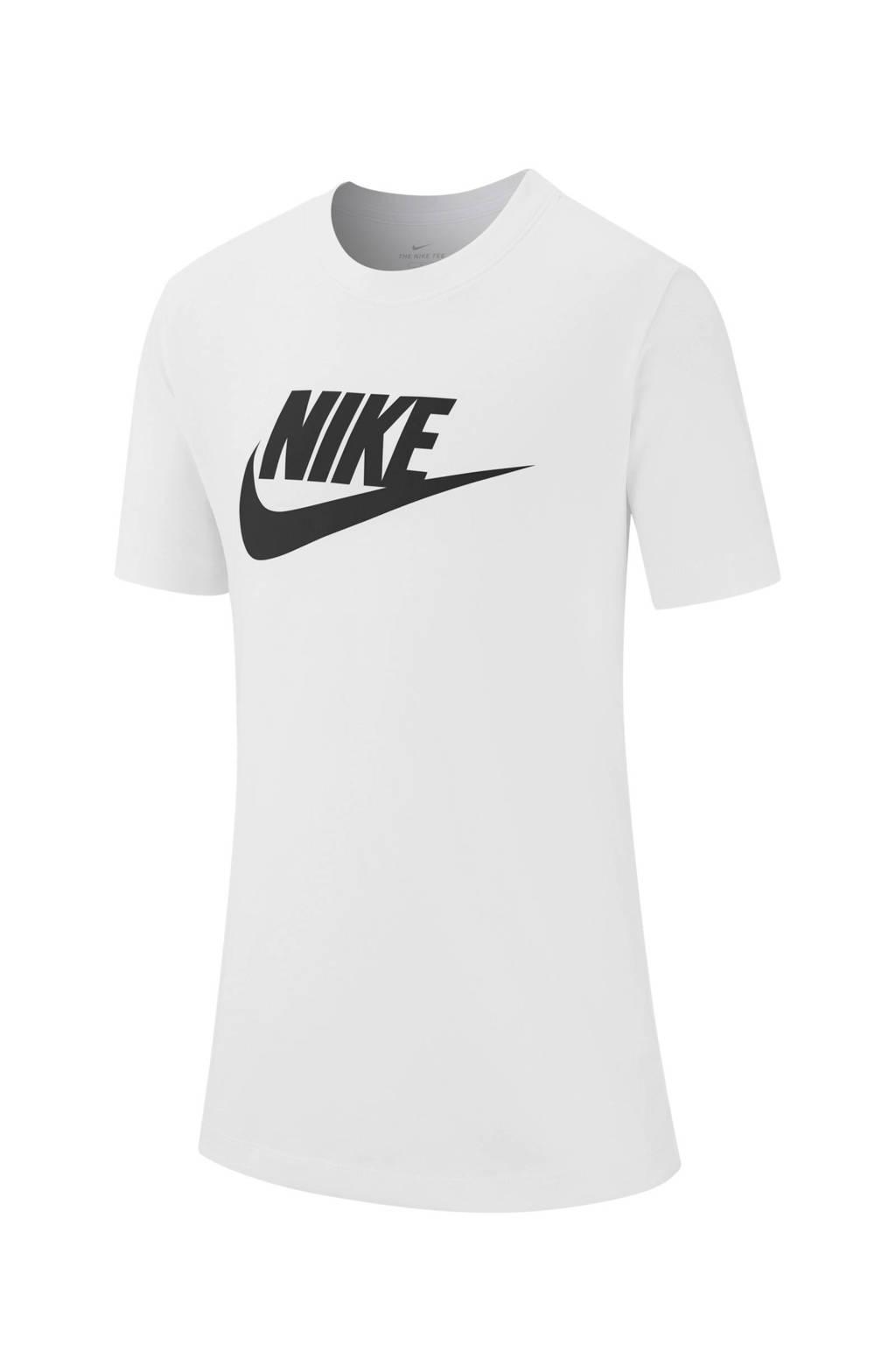 Nike T-shirt wit, Wit/zwart