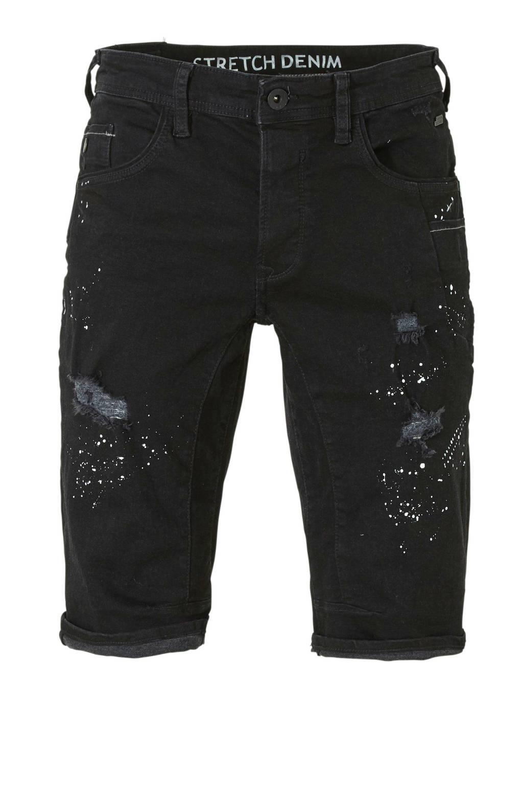 C&A Angelo Litrico regular fit jeans short zwart, Zwart