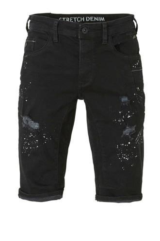 Angelo Litrico regular fit jeans short zwart
