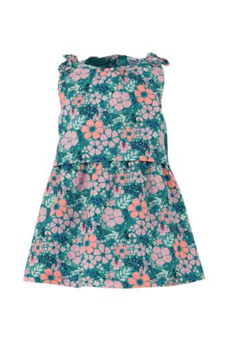 Baby Club gebloemde jurk turquoise