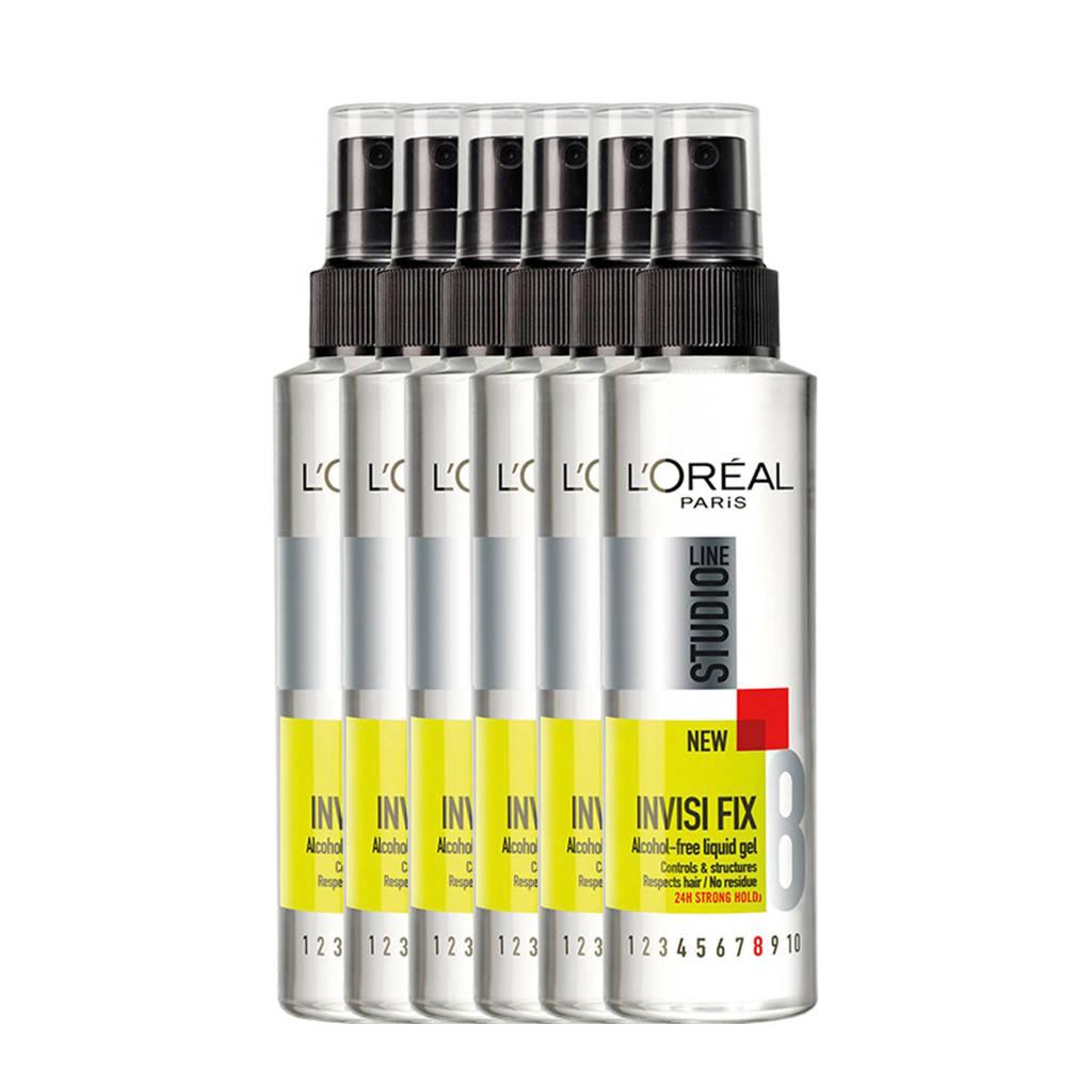 L'Oréal Paris Studio Line vloeibare gel - 6x 150ml multiverpakking