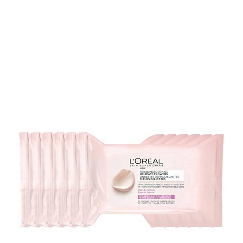 L'Oréal Paris Skin Expert Delicate Flowers Wipes - 25 stuks multiverpakking