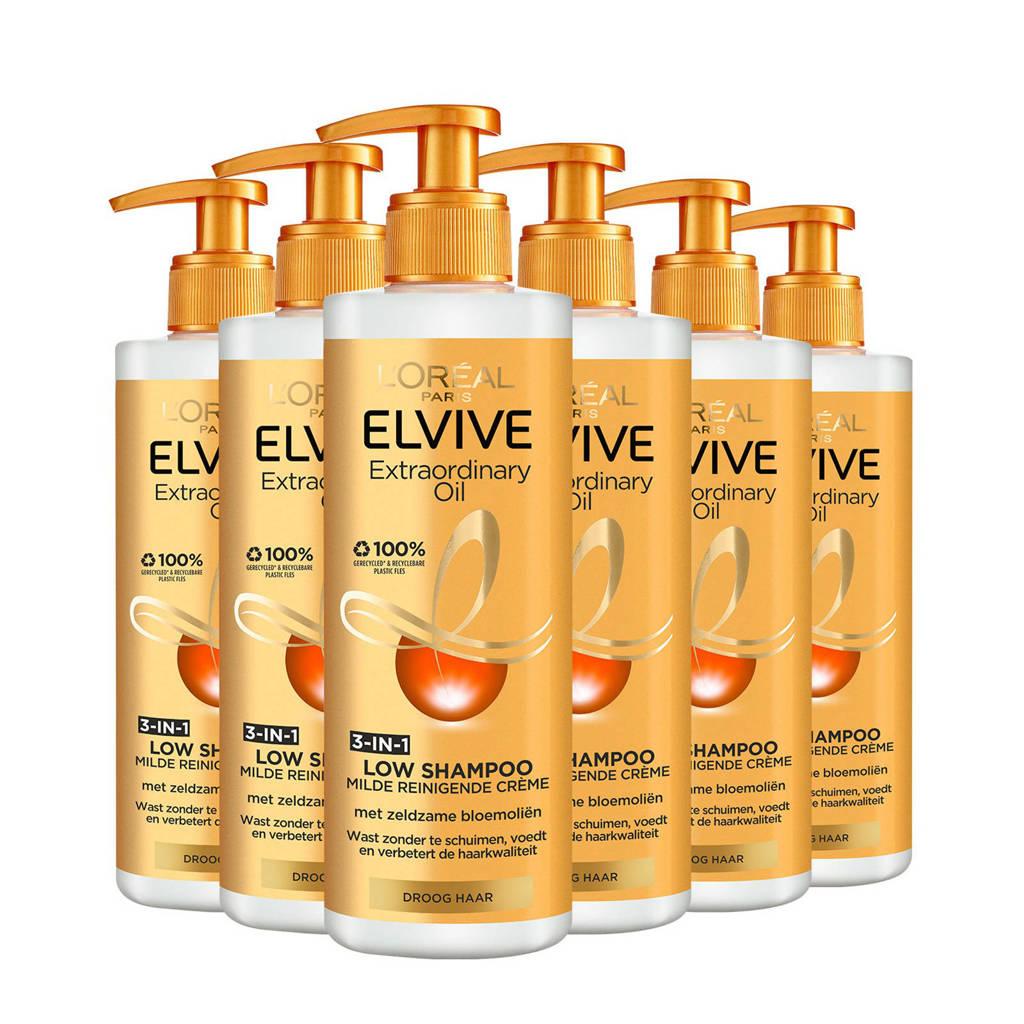 L'Oréal Paris Elvive extraordinary Oil Low shampoo - 6x 400 ml multiverpakking