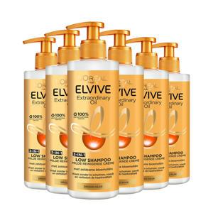 extraordinary Oil Low shampoo - 6x 400 ml multiverpakking