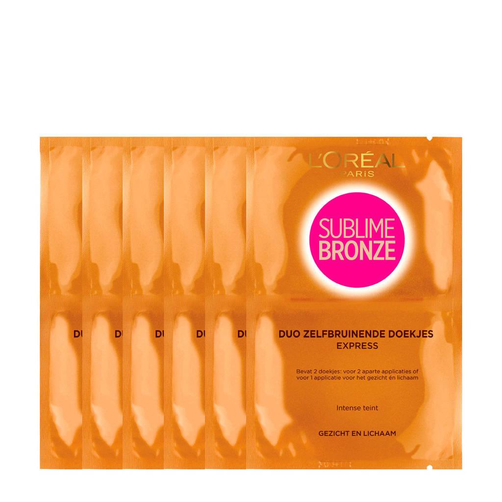 L'Oréal Paris Sublime Bronze zelfbruinende doekjes - 30x2 multiverpakking