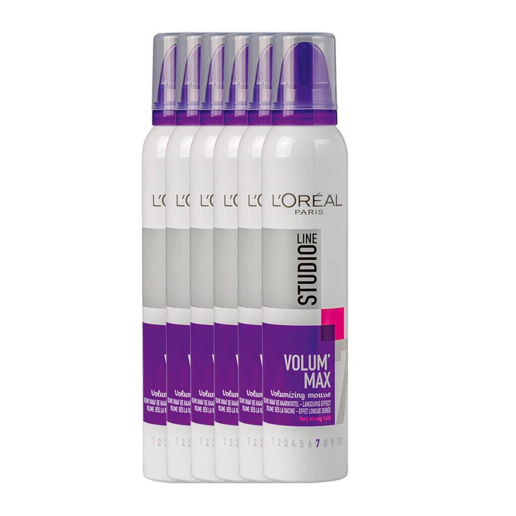 L'Oréal Paris Studio Line Volumizing Mousse Very Strong - 6x 250ml multiverpakking
