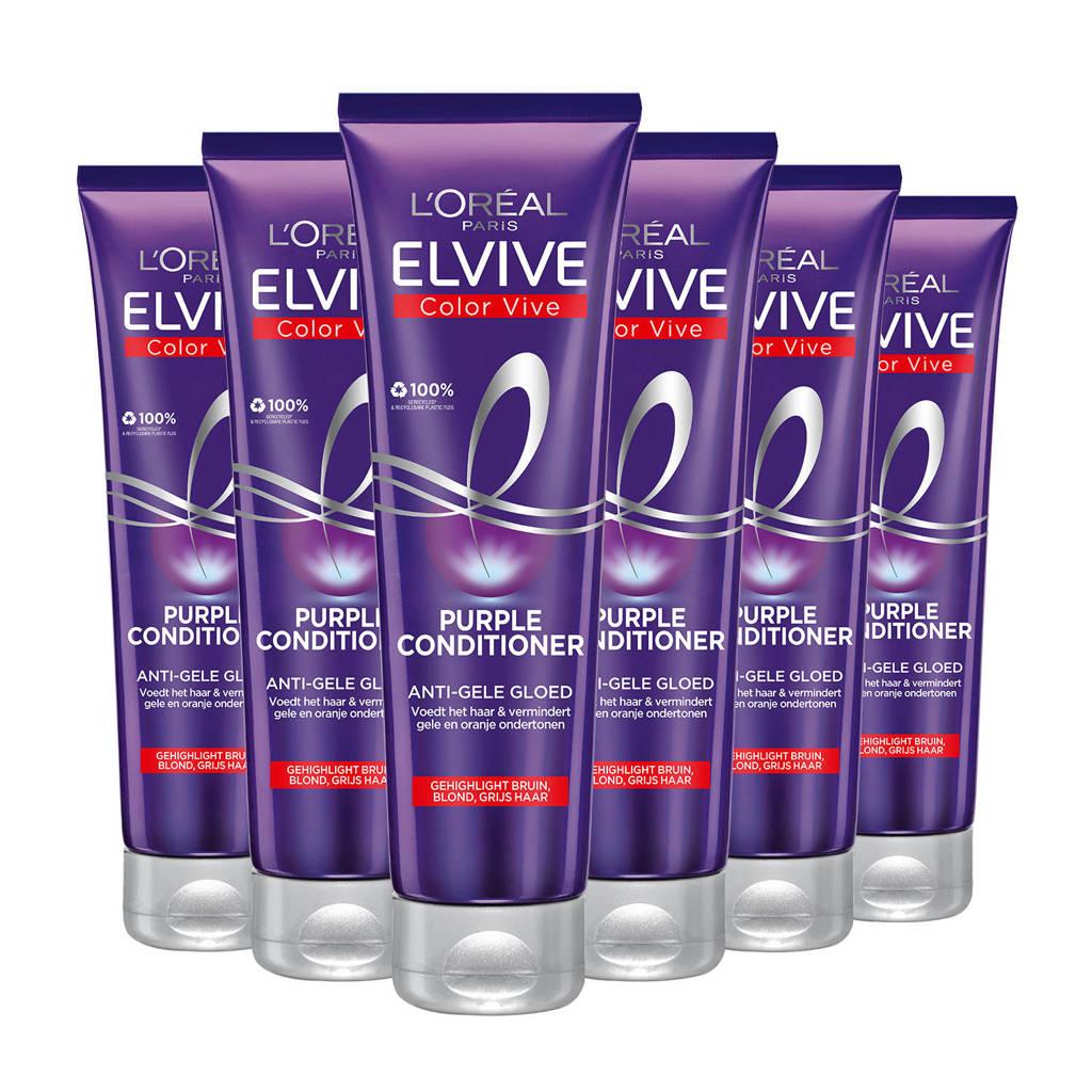 L'Oréal Paris Elvive Color Vive Purple conditioner - 6x 150ml multiverpakking