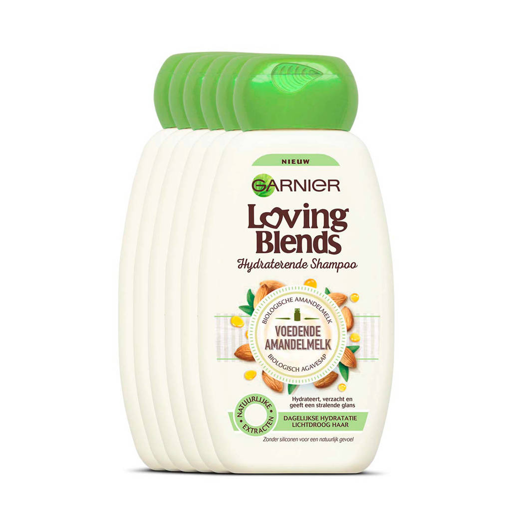Garnier Loving Blends Voedende Amandelmelk shampoo - 6x 250ml multiverpakking
